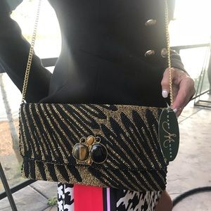 MARY frances beaded crossbody